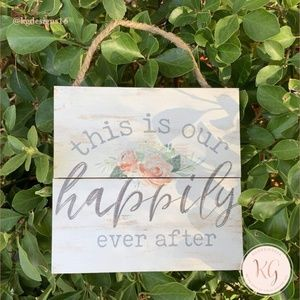 This Is My Happily Ever After Wood Sign